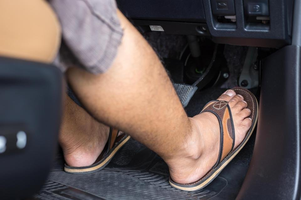 How driving in flip-flops could land you a fine